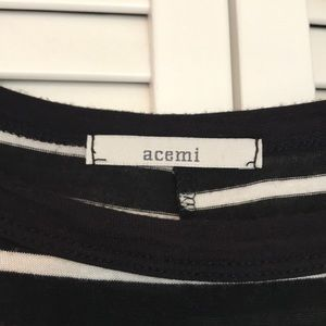 Acemi Dresses - Acemi black and white striped dress
